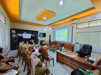 Disbun Inhil Laksanakan Rasionalisasi Anggaran Tahun 2021