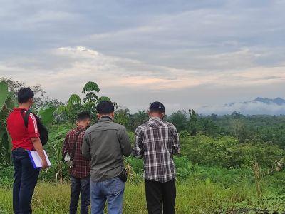 Tim Disbun dan Kantor Pertanahan Inhil Laksanakan Pemetaan Areal Perkebunan