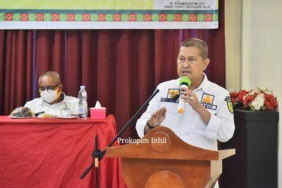 Wabup Syamsuddin Uti Buka Bimtek Sosialisasi Kemudahan Berusaha di Inhil